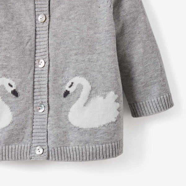 Gray Swan Cardigan Sweater & Pant Baby Gift Set