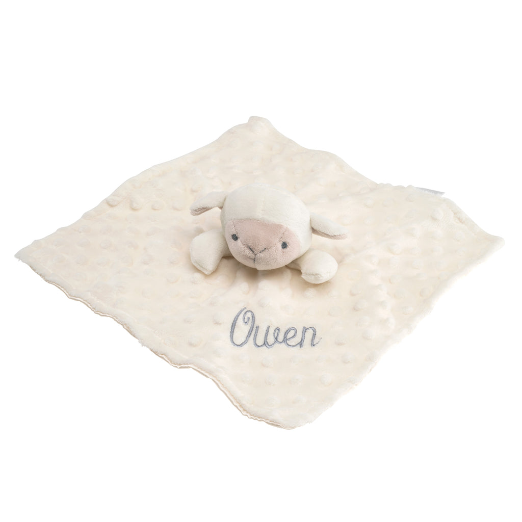 Minky Dot Lambie Baby Security Blanket