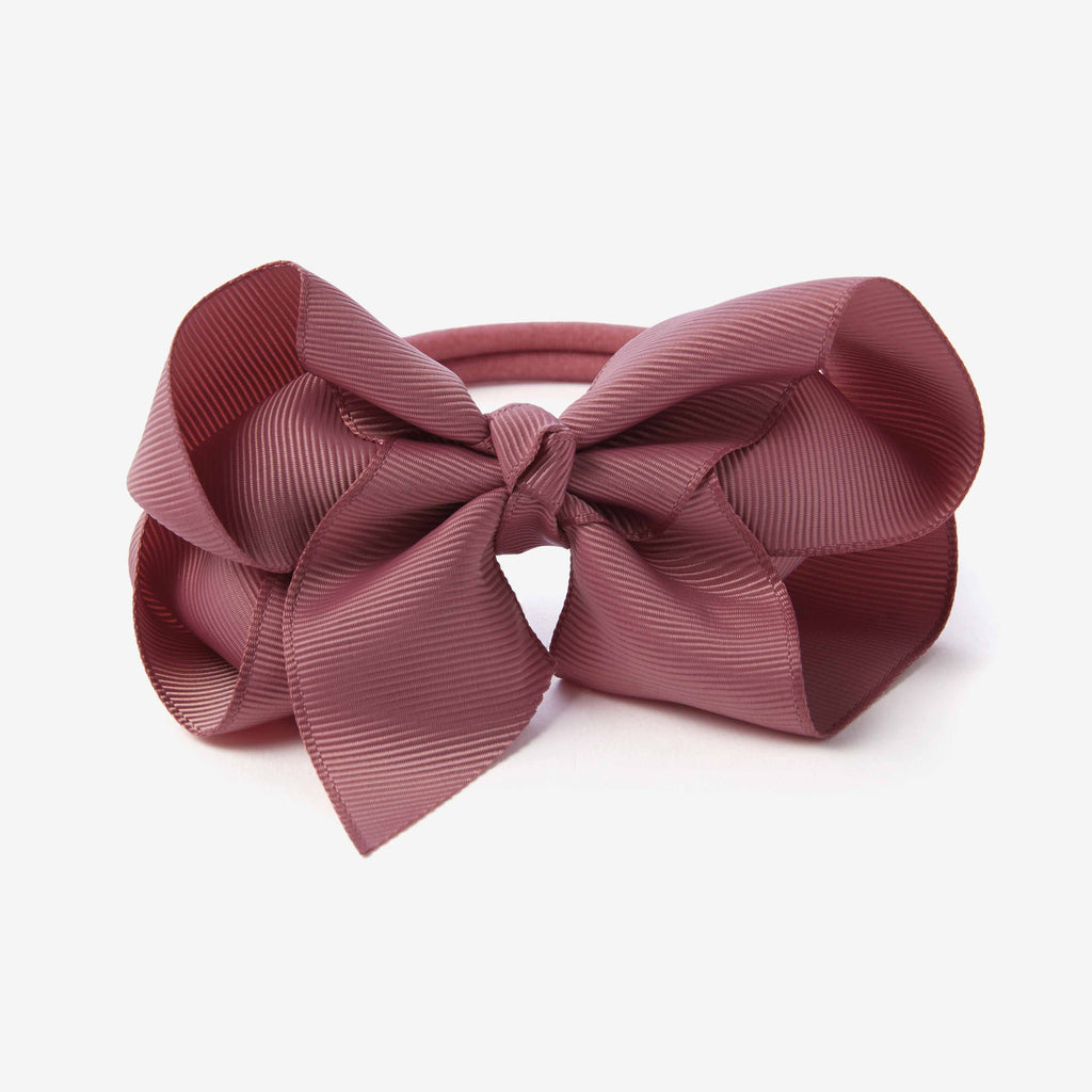Mauve Baby Girl Bow Headband
