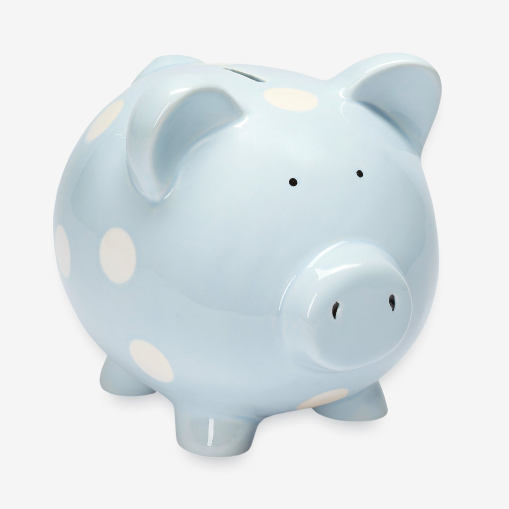 Classic Ceramic Piggy Bank Pastel Blue