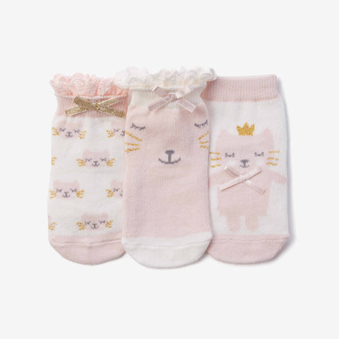 Princess Kitty Cotton Baby Socks 3pk
