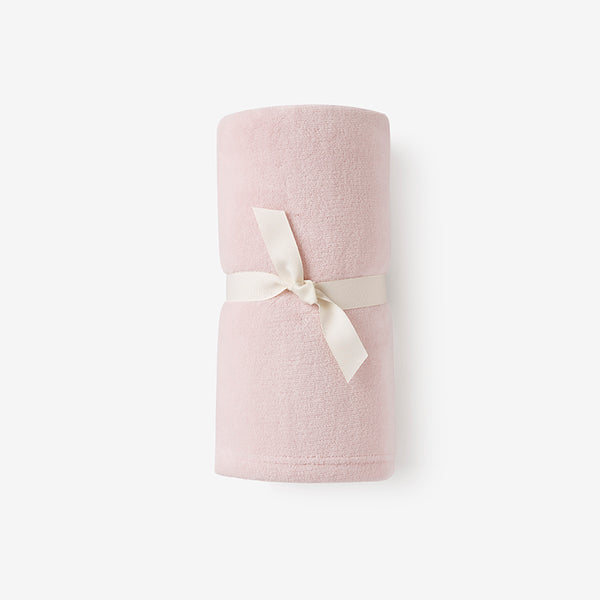 Chalk Pink Simple Fleece Baby Stroller Blanket