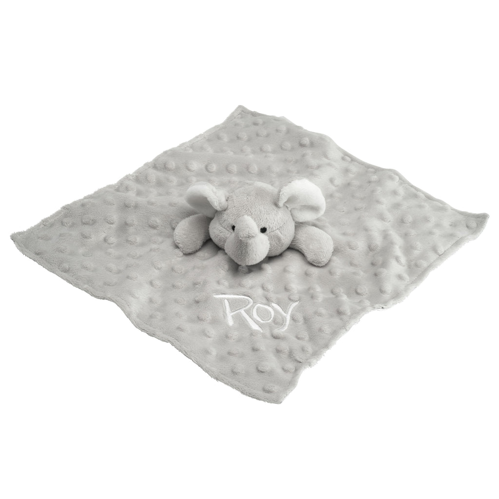 Minky Dot Elephant Security Blanket