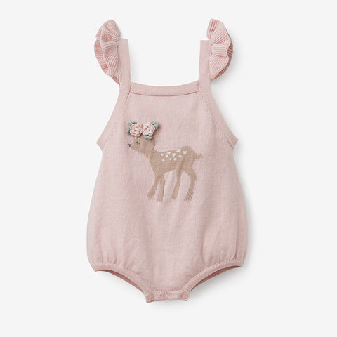 Fawn Baby Bubble Romper