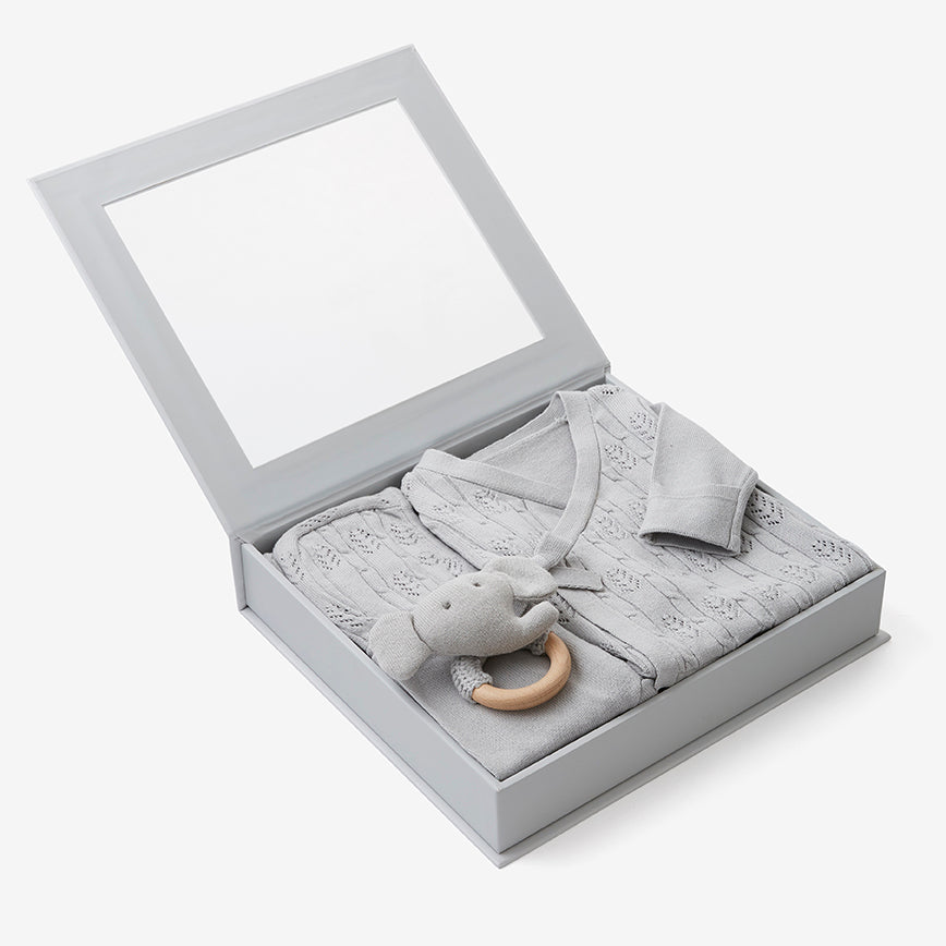 Dove Grey Newborn Coming Home Outfit Boxed Set