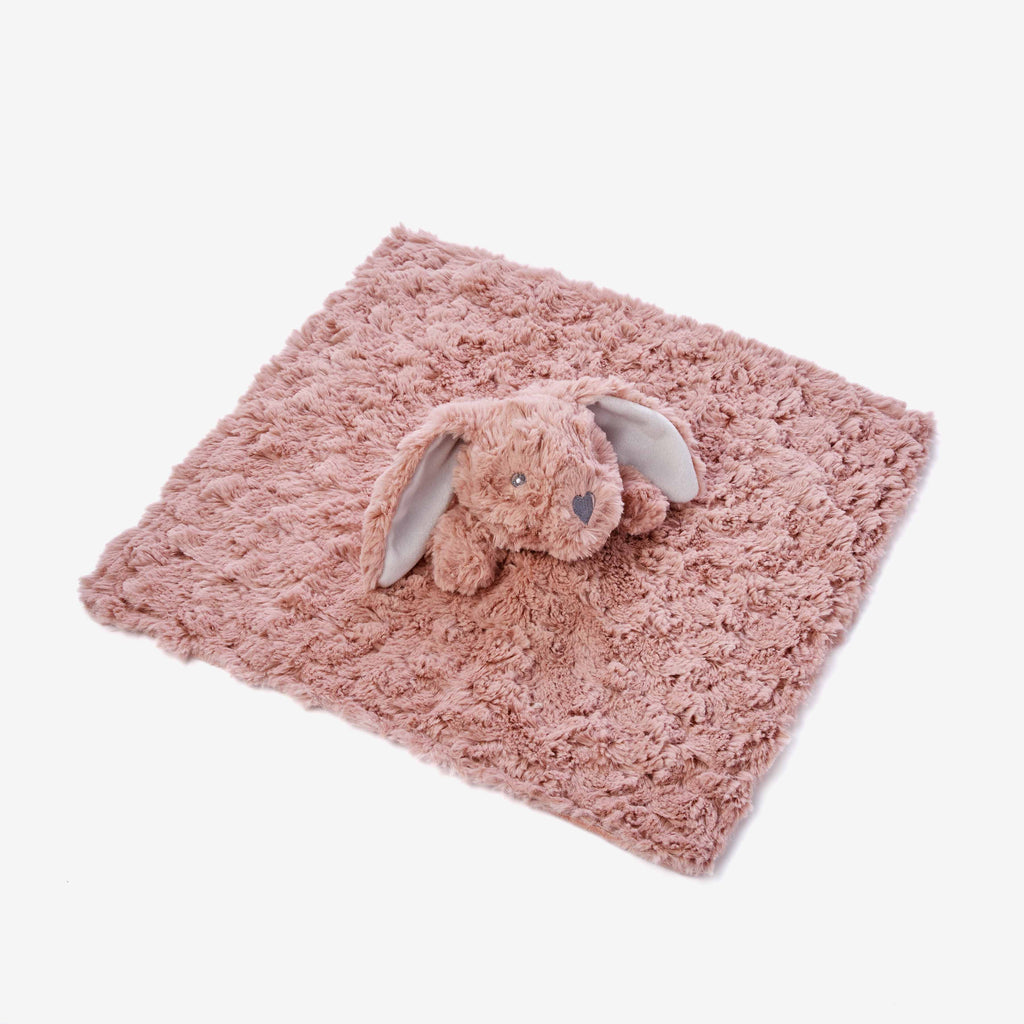 Mauve Swirl Bunny Baby Security Blanket