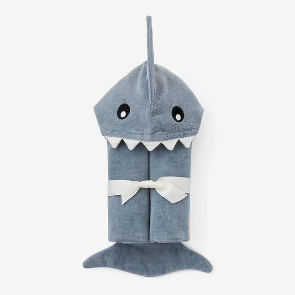 Slate Baby Shark Hooded Bath Wrap