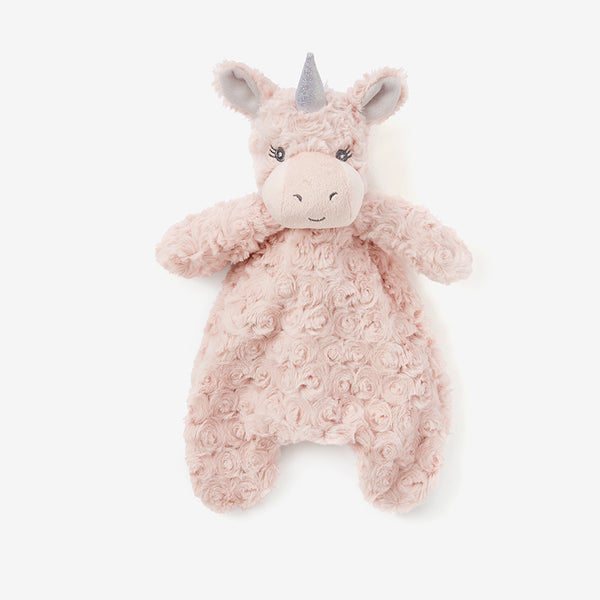 Unicorn Snuggler Swirl Plush Security Blanket w/ Gift Box