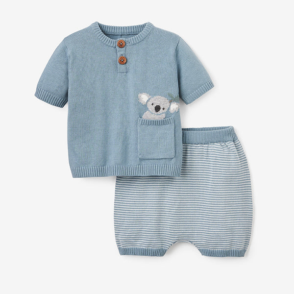 Koala Knit Top & Short Set