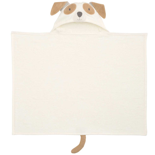 Tan Puppy Hooded Baby Bath Wrap