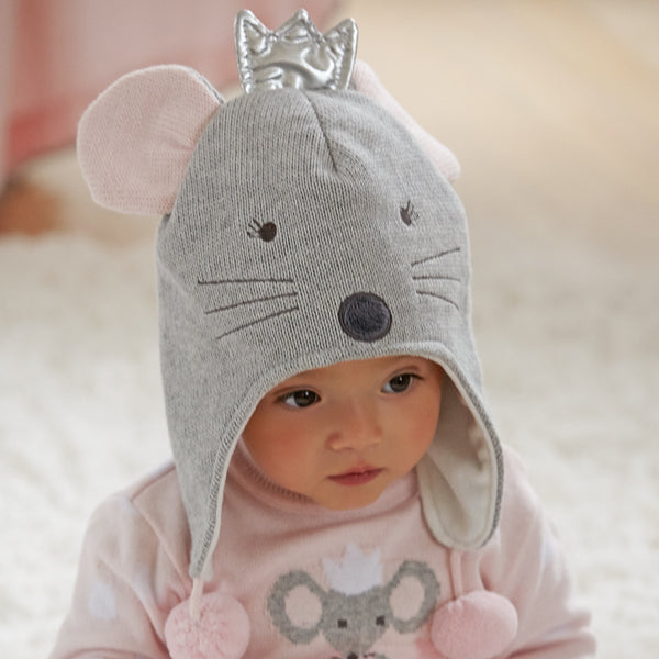 Princess Mousie Knit Baby Hat