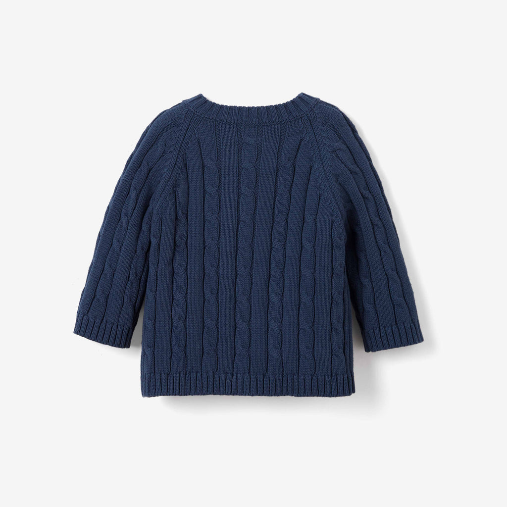 Navy Cable Knit Baby Sweater