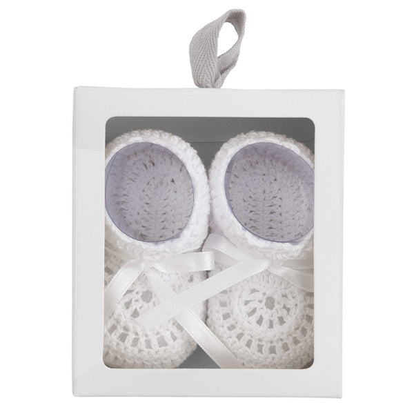 Christening Hand Crocheted Baby Booties