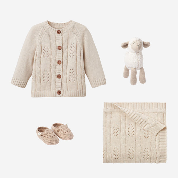 Wheat Knit Lamb Baby Gift Set
