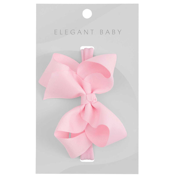 Pale Pink Baby Girl Hair Bow Headband