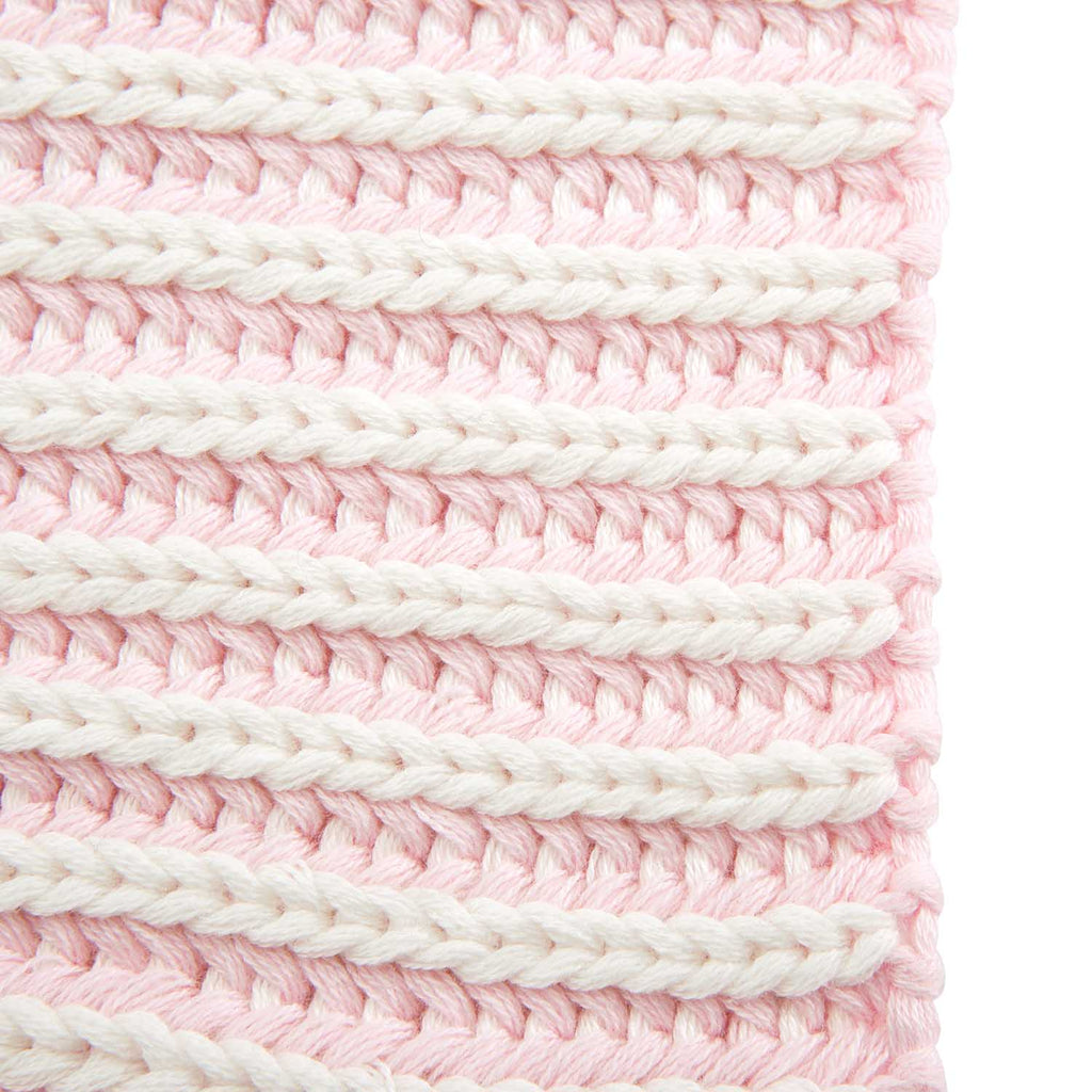 Pink Twisted Yarn Baby Blanket 30x40