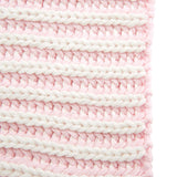 Twisted Yarn Baby Blanket Pink