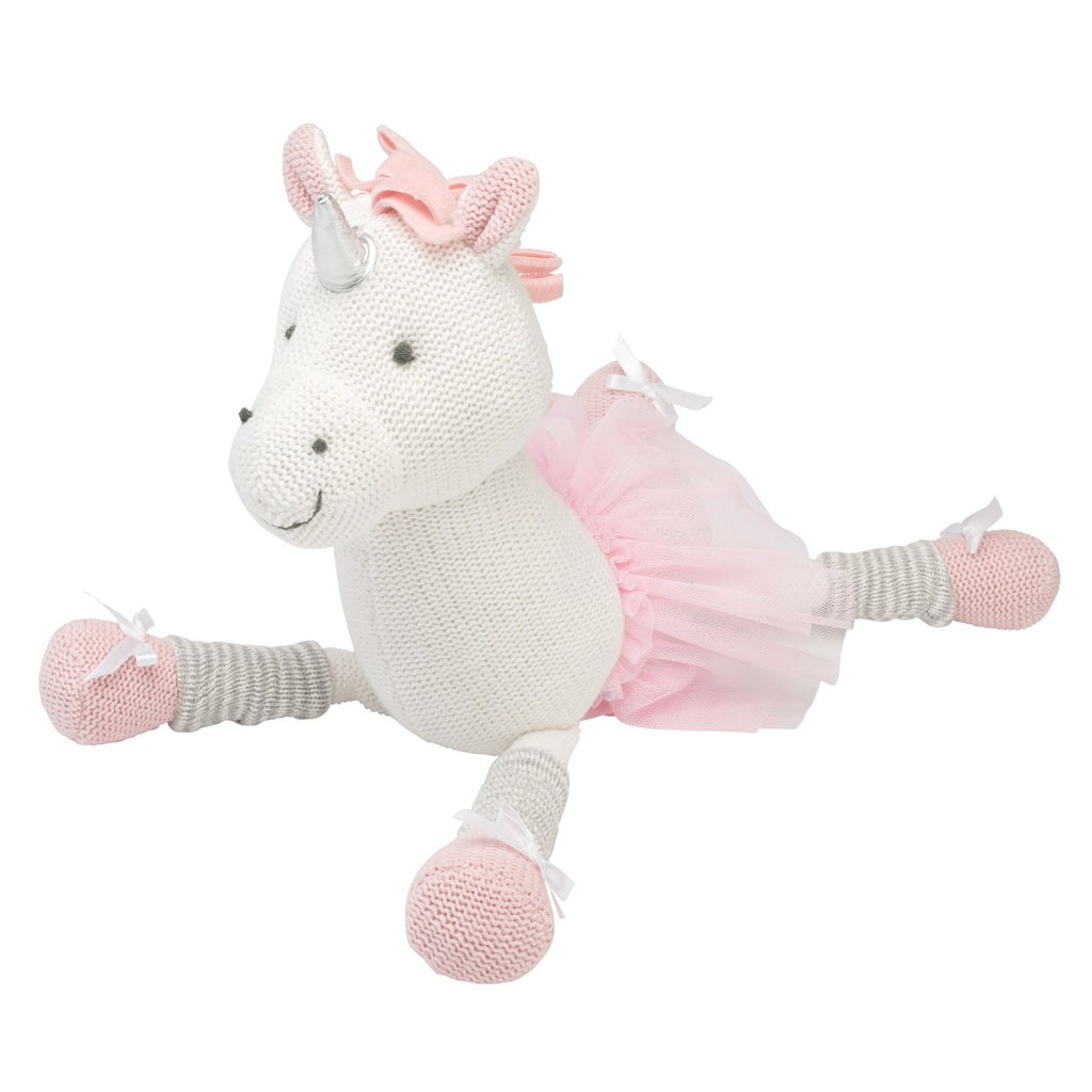 "15"" Luna Unicorn Baby Knit Doll"