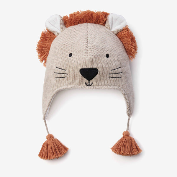 Lion Aviator Knit Baby Hat