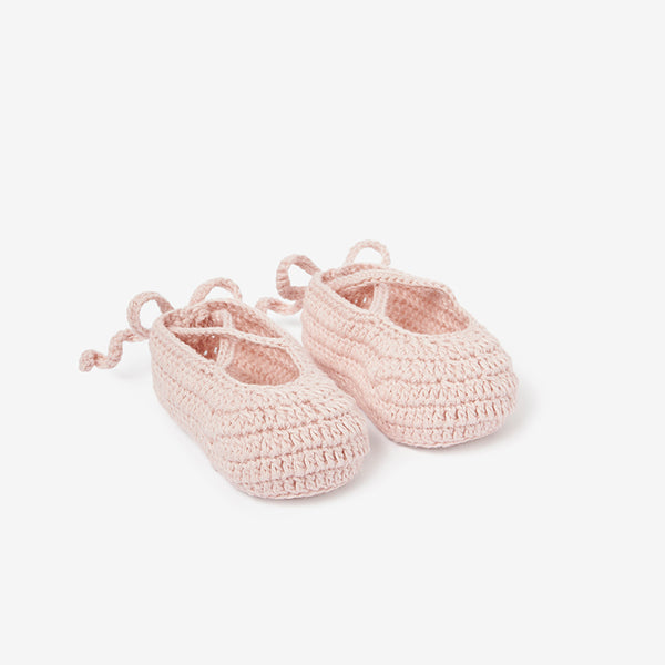 Pink Ballerina Hand-crocheted Booties