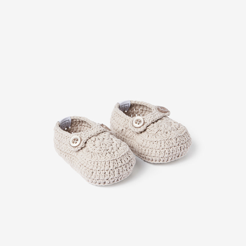Hand Crocheted Booties - Gray