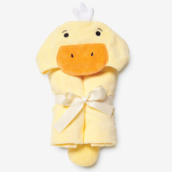 Yellow Duckie Hooded Baby Bath Wrap
