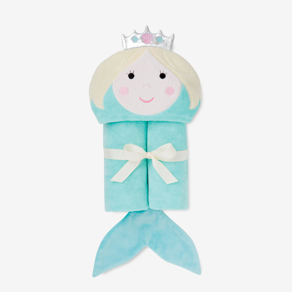 Mermaid Hooded Baby Bath Wrap