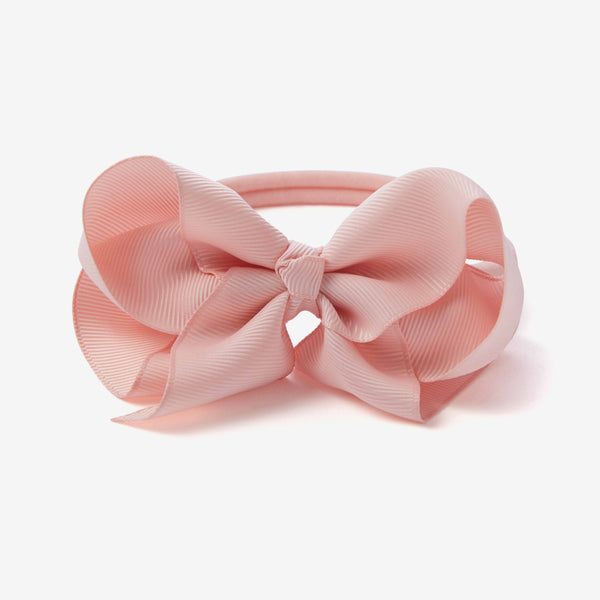Chalk Pink Baby Girl Bow Headband