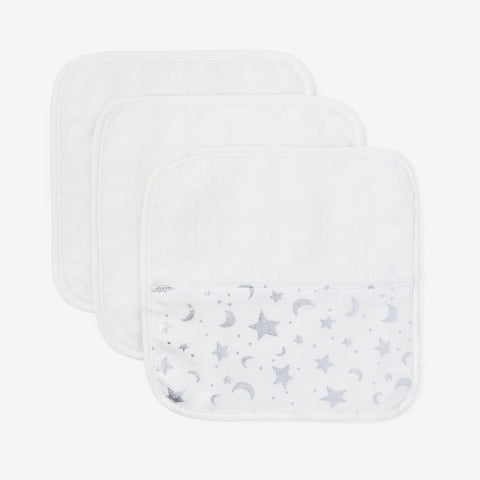 Celestial Organic Baby Washcloth Set