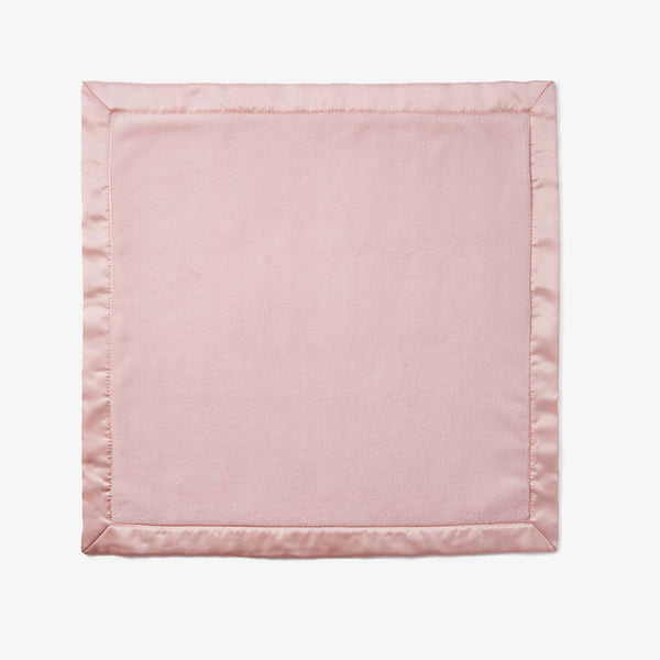 Chalk Pink Coral Fleece Baby Security Blanket