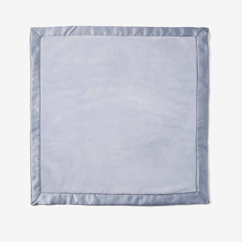 Pale Blue Coral Fleece Baby Security Blanket