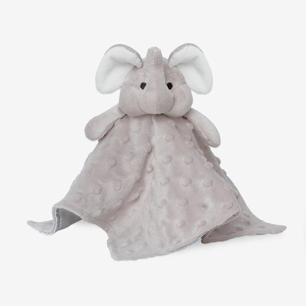 Minky Dot Elephant Baby Security Blanket