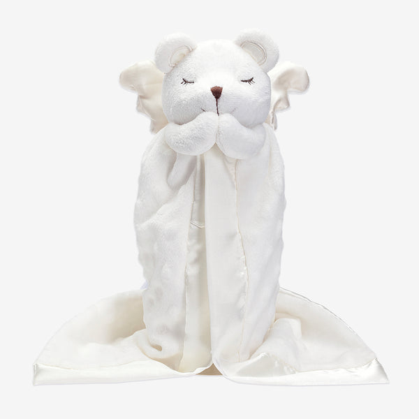 Minky Dot Prayer Bear Baby Security Blanket