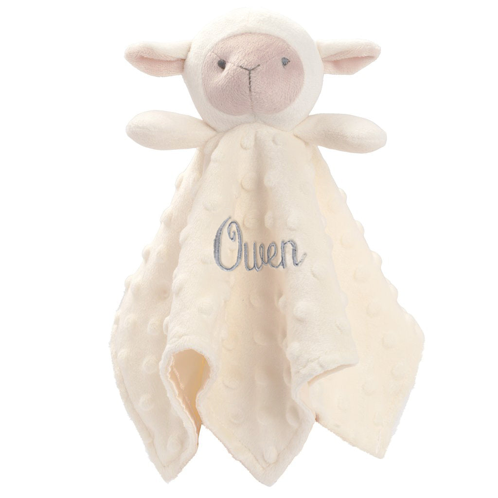 Minky Dot Lambie Security Blanket