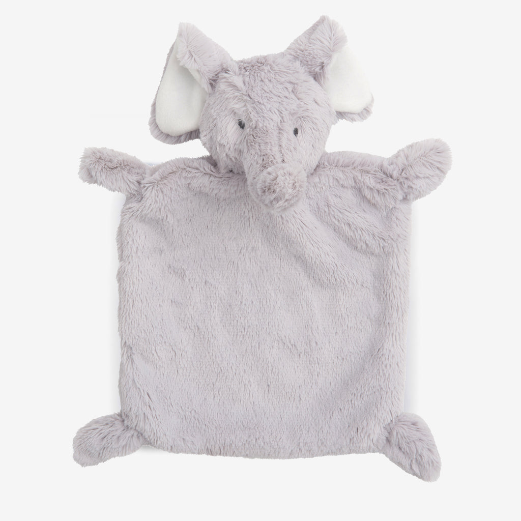 Gray Elephant Flat Baby Security Blanket