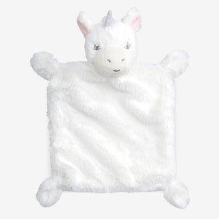 White Unicorn Flat Baby Security Blanket