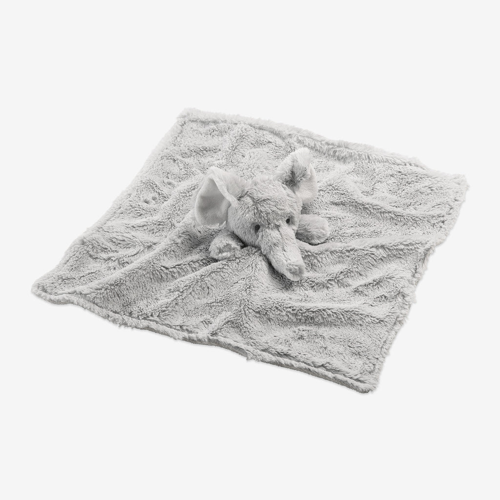 Gray Elephant Baby Security Blanket