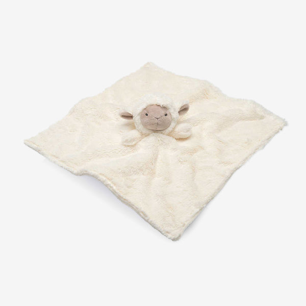 Cream Lambie Baby Security Blanket
