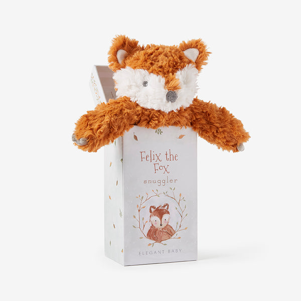 Fox Snuggler Swirl Plush Security Blanket w/ Gift Box