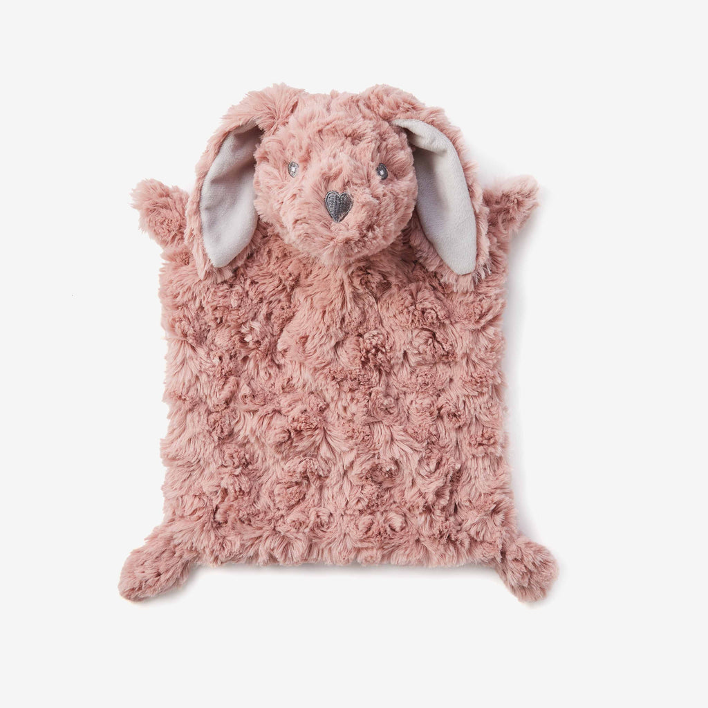 Mauve Swirl Bunny Flat Baby Security Blanket