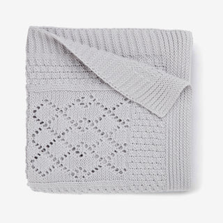 Gray Seed Knit Cotton Baby Blanket