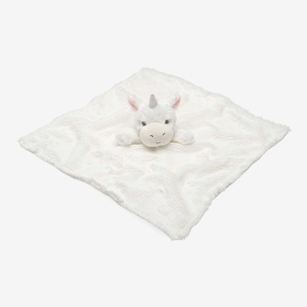 White Unicorn Baby Security Blanket