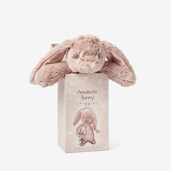 Bunny Snuggler Plush Security Blanket w/ Gift Box