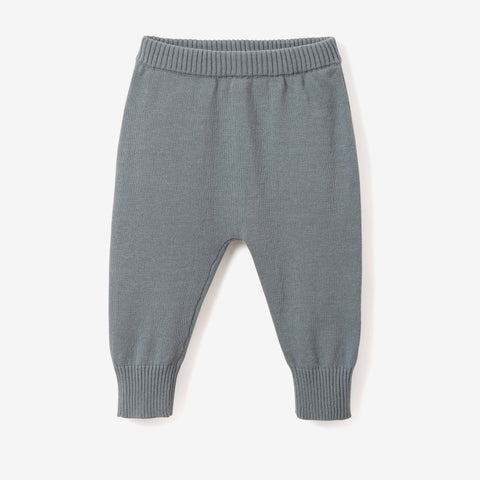 Light Teal Fine Knit Cotton Baby Pant