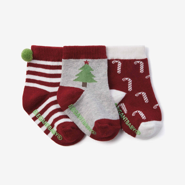 Holiday Cotton Baby Socks 3pk