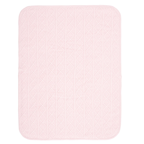 Pink Lattice Furback Baby Stroller Blanket