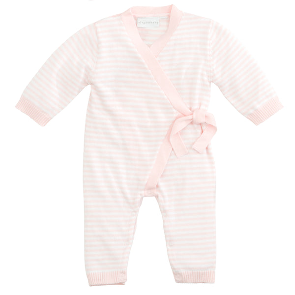 Stripe Knit Jumpsuit - Pink