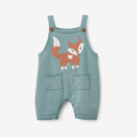 Fox Knit Overall Baby Romper