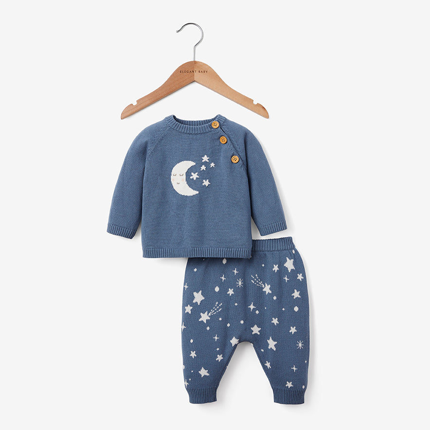 Celestial Knit Sweater & Pant Baby Gift Set