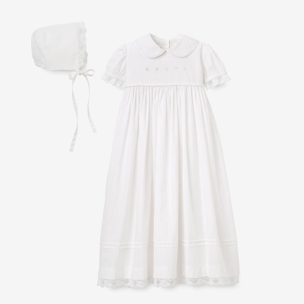 Girls' Gown & Bonnet Christening Gift Set